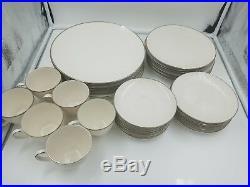 Noritake LORELEI Ivory China 7541 Japan White Flowers set of 6 EUC 30 pieces