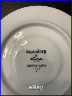 Noritake Legendary Crestwood Platinum 20 Piece Setting