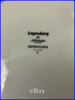 Noritake Legendary Crestwood Platinum China 5 Piece Setting 4166 133 Piece Lot