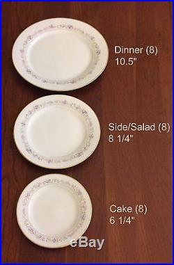Noritake Lilac Time Bone China Complete Set