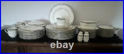Noritake Lyndenwood China, 62 Pc Set for 11, Includes Serving Pieces