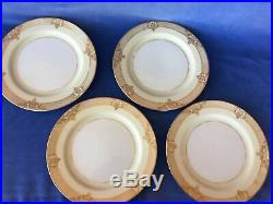 Noritake MARCISITE Cream China Hand Painted 24k Gold Trim 4 Place Settings 28pc