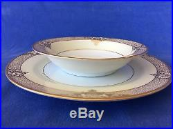 Noritake MARCISITE Cream China Hand Painted 24k Gold Trim 8 Place Settings 56pc