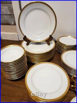 Noritake M Washington Vintage Fine China 81PC Dish Set 69699 Gold Encrusted