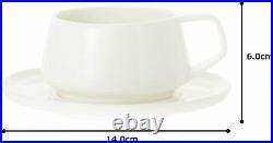 Noritake Marc Newson Collection Cup & Saucer Pair Set of 2 White Bone China