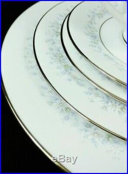 Noritake Marywood 60 Pc Set Service For 12 China Japan 2181 Blue Flowers