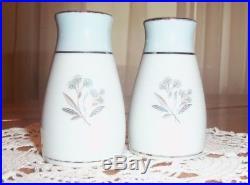 Noritake Mavis porcelain china Salt & Pepper Shaker SET Vintage Pattern #5543