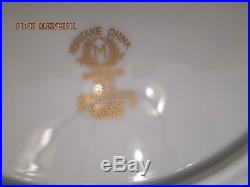 Noritake Mayfield China Service for 12, 6 piece place settings with fruit bowl