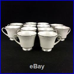 Noritake Misty 2883 25 Piece Tea Set White Contemporary Fine China Embossed