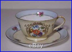 Noritake Morimura Hand Painted Vintage China Rare Set of 8 Teacups & Saucers