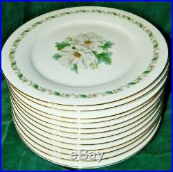 Noritake Nippon 5029 White Gardenia 89 Pc China Dinnerware Set Toki Kaisha Nice