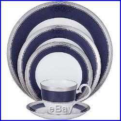 Noritake Odessa Cobalt Platinum 60Pc China Set, Service for 12