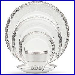 Noritake Odessa Platinum 60Pc China Set, Service for 12
