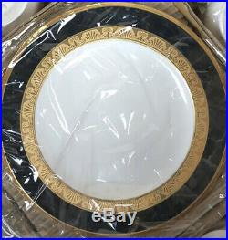 Noritake Opulence Black And Gold China 20Pc Set, Service for 4