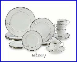 Noritake Platinum Wave 20-Piece Dinnerware Set China Set Of 4