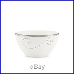 Noritake Platinum Wave Rice Bowls, Set of 4