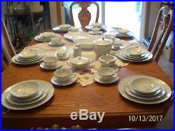 Noritake Porcelain China Valerie Pattern 6 Piece Place Setting For 8 Extra's 56