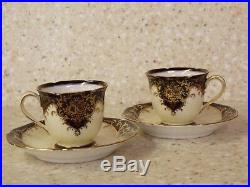 Noritake Porcelain Hand Painted China Cup & Saucer Set 2 Sets. Yes. A Pair