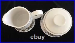 Noritake Progression China Tressa 8 Piece Coffee Tea Set Cream Sugar 9029