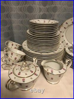 Noritake ROSALIE 3052 pattern Japan 54-piece Service Set 6 Serving Pieces China