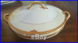 Noritake ROSALIE GOLD ENCRUSTED 1931 Fine China Dish Set With Service for 12