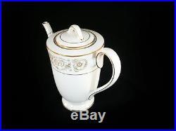 Noritake Raphael 50 Pc China Set Coffee Pot, Cups, Platter, Cream & Sugar Lid