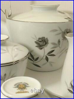 Noritake Rosamor #5851 China Tea Pot with Lid cups saucers cream sugar Tea Set