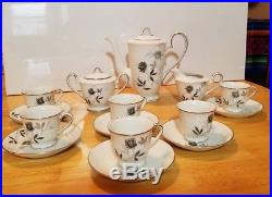 Noritake Rosamor fine china demitasse coffee tea set unused vintage mint Japan