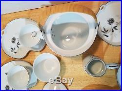 Noritake Rosamor fine china tea snack set service unused vintage mint Japan