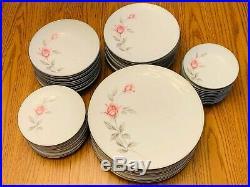 Noritake Rosmarie China 6044 (10) Full Place Setting Set 50 Total Pieces