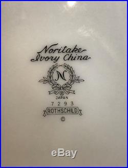 Noritake Rothschild China Four 5 Piece Place Setting Mint Perfect