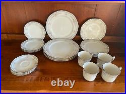 Noritake Rothschild China Service of 4 5 Piece Place Settings 3 Sets Available