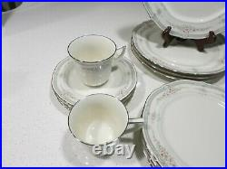 Noritake Rothschild Lot Of 4 Complete Place Settings