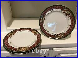 Noritake Royal Hunt China #3930 Lot Set of 4 EUC 10 1/2 Dinner Plates