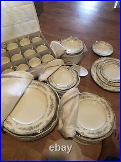 Noritake Shenandoah Bone China 12 Place Settings / 60 Pcs Plus Storage Free Ship