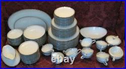 Noritake Silver Key China Ten (10) 7-Piece Place Settings plus Serving Dishes