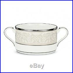 Noritake Silver Palace Cream Soup Cups, Set of 4