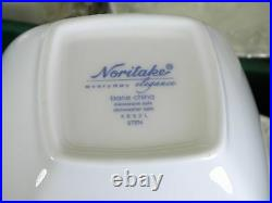 Noritake Sten Small Square Bowls Set of 4 NEW IN BOX Bone China