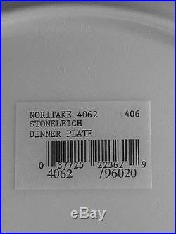 Noritake Stoneleigh White Scapes China NIB 4 5 pc place settings Dinnerware