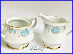 Noritake Tea set Tea cups saucers/plates Bone China white Blue Tide White