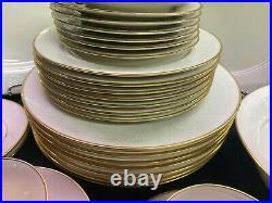 Noritake Tulane China 7562 33 piece Dinnerware Set Mint! Platter Vegetable Bowl