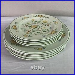 Noritake Versatone Lineage China Dinner Salad Plate Set 8 Dinnerware B306W12 Euc