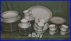 Noritake Vienne Fine Bone China Dinner Set62 PiecesService for 12Serving Bowl