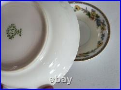 Noritake Vintage 1920's Flower China Set M Morimura Green Mark lot of 26