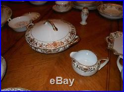 Noritake Vintage Christmas Ball Pattern #175 24k Hand-painted 78 Piece China Set
