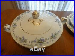 Noritake Violette 3054 China 94 Pcs. 12 Complete Settings & Extras Discontinued