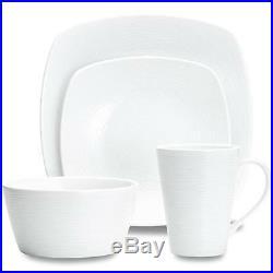 Noritake Wow Swirl Square 32Pc Dinnerware Set, Service for 8