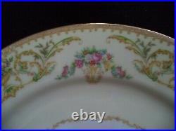 Noritake china Nanette 4 5-place settings plates cups pink flowers green garland