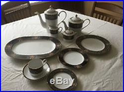 Noritake china in Paradise Tribute. 10 piece setting with coffee/tea set