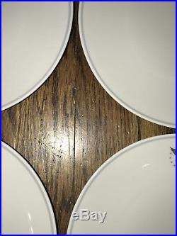 PAN AM AIRLINE Set NORITAKE China Japan PRESIDENT Gold Eagle Stars Lunch Plates